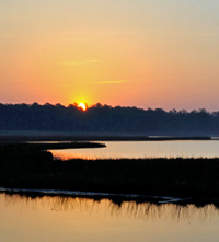 Sunset at Blackwater National Wildlife Refuge