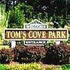 Tom's Cove Park sign